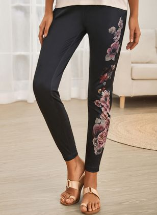 Casual Skinny High Waist Polyester Pants (122029353)