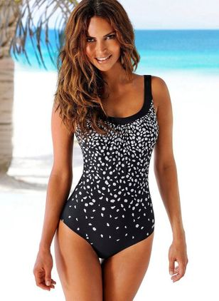 Polyamide Pattern One-piece Swimwear (1309078)